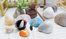 Japanese rock-garden in a miniature Royalty Free Stock Photography