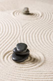 Japanese rock garden with pebbles Stock Photography