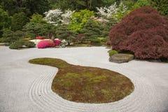 Japanese Rock Garden. In Portland, Oregon stock photography