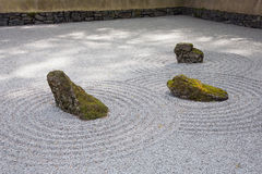 Japanese Rock Garden. In Portland, Oregon stock images
