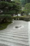 Japanese rock garden (Zen garden). A photo of a Japanese rock garden at a temple in Kyoto, Japan Royalty Free Stock Photo