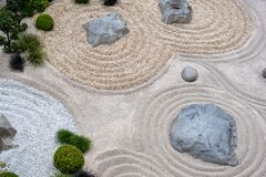 Free Japanese Rock Garden Zen Garden At Trentino Province Stock Images - 171197244