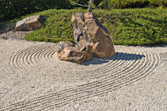 Japanese rock gravel garden Royalty Free Stock Image