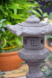 Japanese rock lantern Stock Image