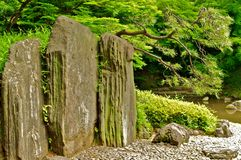 Japanese rock wall curtain Royalty Free Stock Photography