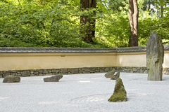 Japanese rock zen garden Royalty Free Stock Photos