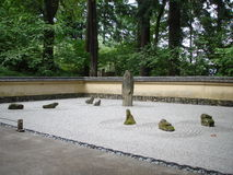 Japanese rocks garden Stock Photography