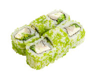 Japanese roll isolated Royalty Free Stock Images