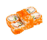 Japanese roll isolated Royalty Free Stock Photo