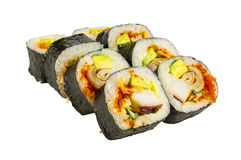 Japanese roll isolated Royalty Free Stock Image