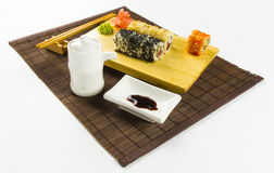 Japanese roll isolated Royalty Free Stock Photos