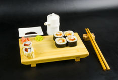 Sushi roll set Royalty Free Stock Photos