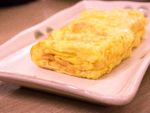 Japanese rolled omelette Stock Image