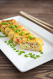 Japanese rolled omelette Stock Photo