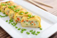 Japanese rolled omelette Royalty Free Stock Photo