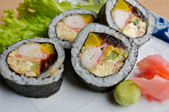 Japanese rolled sushi Stock Photo