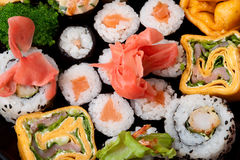 Japanese rolls. Close up perfect use as background Stock Image