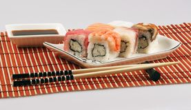 Japanese rolls. Still-life about the Japanese rolls Stock Photos