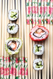 Japanese rolls Royalty Free Stock Photos