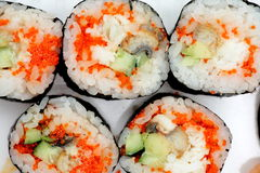 Japanese rolls close up Royalty Free Stock Photo