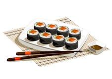 Japanese rolls serving, still life Stock Image