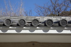 Japanese Roof Royalty Free Stock Photography