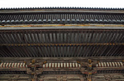 The Japanese roof. Architecture of the Japanese roof at Ninnaji temple in Kyoto, Japan Royalty Free Stock Photo