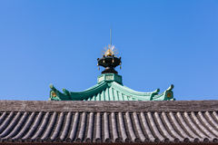 Japanese roof Royalty Free Stock Photo
