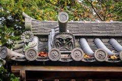Japanese roof detail - Kyoto, Japan. Japanese roof in Kyoto, Japan stock image