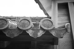 Japanese roof. Japanses style roof in Himeji castle royalty free stock photo