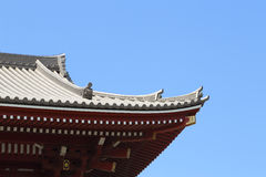 Japanese roof style Royalty Free Stock Image