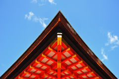 Japanese roof style Stock Images