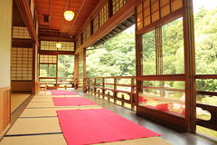 Japanese room. A traditional Japanese house inside Stock Images