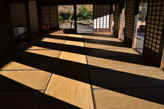 Japanese Room. Filled with lights and shadows Royalty Free Stock Photography