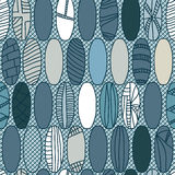 Japanese Rugby Ball Style Seamless Pattern_eps Stock Image