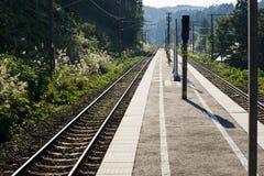 Japanese rural rail platform Stock Image