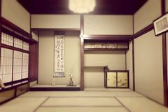 Japanese ryokan room Royalty Free Stock Photo