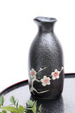 Japanese sake bottle Stock Photo