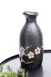 Japanese sake bottle Stock Photo