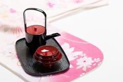 Japanese sake cup Royalty Free Stock Photo