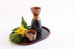 Japanese sake stock image
