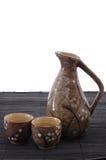 Japanese Sake Serving Set Royalty Free Stock Photos