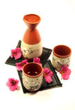 Japanese sake set Royalty Free Stock Images