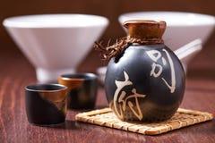 Japanese Sake set stock image