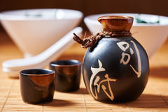 Japanese Sake set royalty free stock photo
