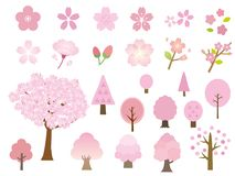 Sakura set stock illustration