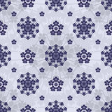 Japanese Sakura shape flower circle seamless pattern. This illustration is drawing Japanese Sakura flower top view like umbrella in blue color background Royalty Free Stock Photo