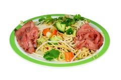 Japanese salad beef carpaccio. Royalty Free Stock Image