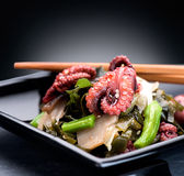 Japanese salad with octopus and ginger Stock Photo