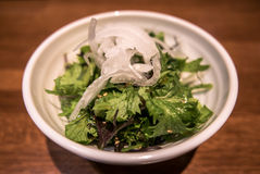 Japanese salad. This restaurant is in Kyoto, Japan Stock Image
